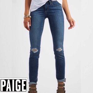 PAIGE Kylie Crop Nora Destructed Jeans NWT C3